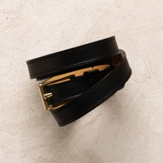 Skinny belt in black