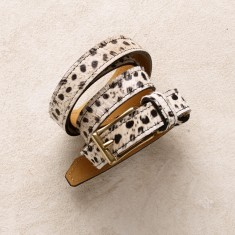 Skinny belt in cheetah