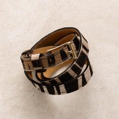 Skinny belt in zebra