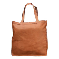 Savarda leather tote in doe