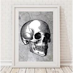 Industrial skull print