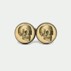 Anatomy skull silver or antique cufflinks