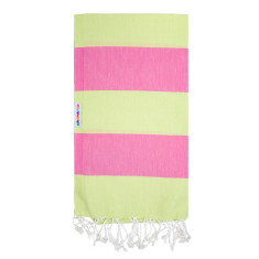 Mammamas Turkish Towel in Bold Watermelon/Lime