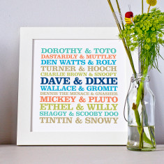 Personalised Man's Best Friend Framed Print