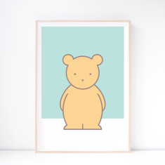 Buddy Bear Nursery Art Print
