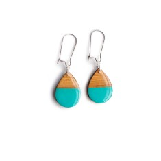 Small teardrop dangly earrings - turquoise