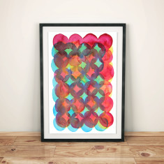 CMY watercolour art print