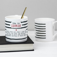 Idris Elba Poem Bone China Mug