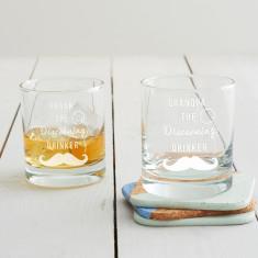 Personalised 'Discerning Drinker' Tumbler Glass