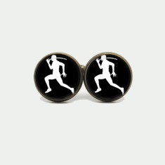Running silver or antique cufflinks