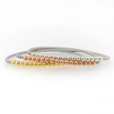 Multi ball spring snake bangle (various colours)