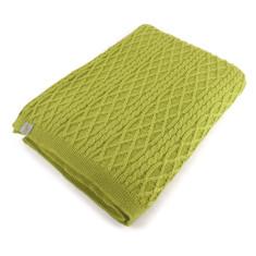 Brioche merino wool baby blanket