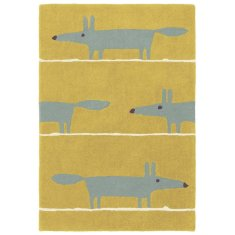 Scion Mr Fox Mustard Wool Rug