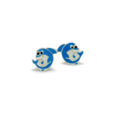 A small world dolphin stud earrings