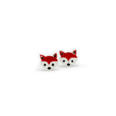 A small world foxes stud earrings
