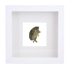 Hedgehog framed print
