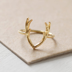 Gold Antler Ring