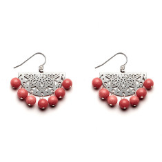 Dusk Pink Paloma Beaded Earrings
