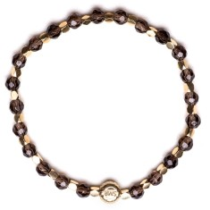 Signature bracelet in smoky quartz