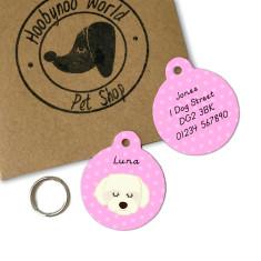 Coton Du Tulear/Maltese Terrier Personalised Dog ID Tag