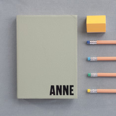 Personalised leather bound diary