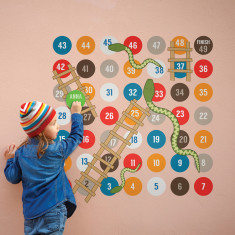Snakes and ladders game wall stickers