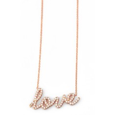 Sparkling love necklace in rose gold