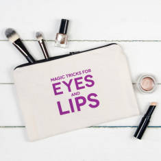 Magic tricks for eyes & lips make up pouch
