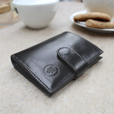 Personalised Pietre Luxury Small Leather Wallet