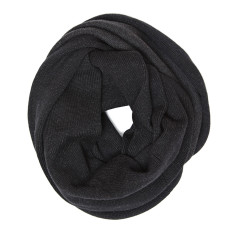Reversible snood in black/charcoal grey