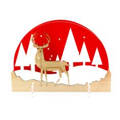 Christmas decoration diorama snowglobe Northern Lights