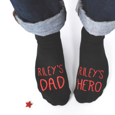Personalised Dad And Hero Socks