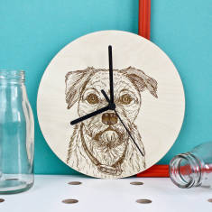 Border Terrier Portrait Clock