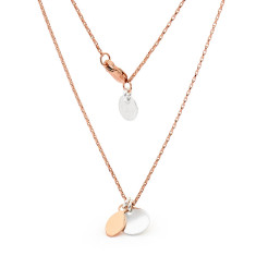 Rose gold fill double tag necklace