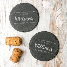 Personalised Pair Of 'Mr And Mrs' Slate Coasters