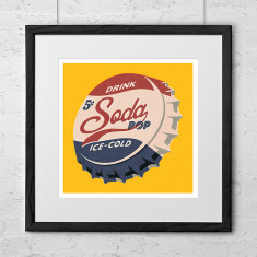Soda pop top art print