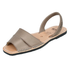 Mao leather sandals in taupe