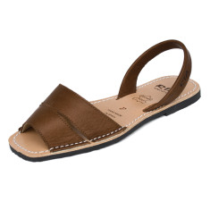 Mao leather sandals in chocolate brown