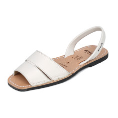 Mao leather sandals in ivory