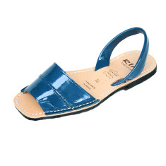 Soldat patent leather sandals in navy
