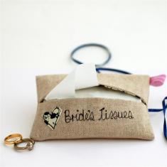 Bride's something blue tissue holder