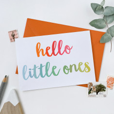 Hello Little Ones New Baby Twins Card