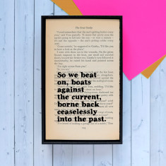 The Great Gatsby so we beat on book page quote