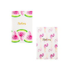 Pink Flamingo & Watermelon Notebook Set