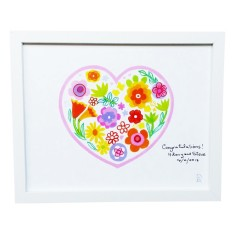 Personalised heart framed art print