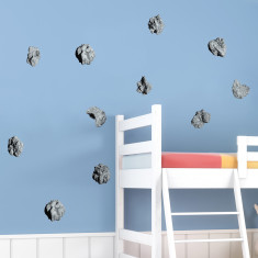 Space asteroids wall stickers