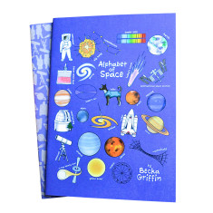Space alphabet notebook set