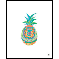 Spanish pineapple art print