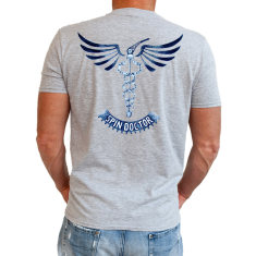 Spin doctor men's t-shirt in grey