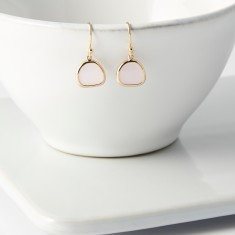 Soft Pink Gold Raindrop Earrings